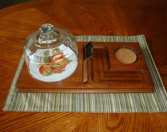 Vintage wooden cheese tray... PRICE REDUCED!