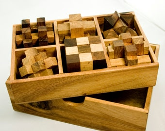 IQ-Master – Puzzle-Set in Wooden Gift Box