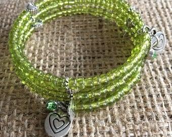 Large memory wire bracelet
