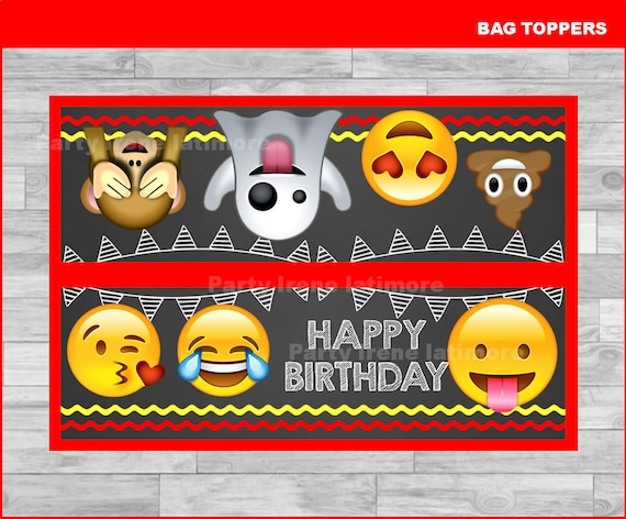 Emoji Toppers for Treat Bags Printable
