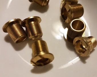 Vintage watch parts - threaded barrels x 6