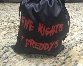 10 FNaF Reusable Party Goody/Snack Bag  FIVE NIGHTS at FREDDYS