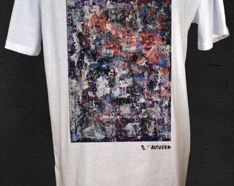 "Men's T-shirt Artused Design ""Visible World"" 100% Organic - Paint & Print in France -"