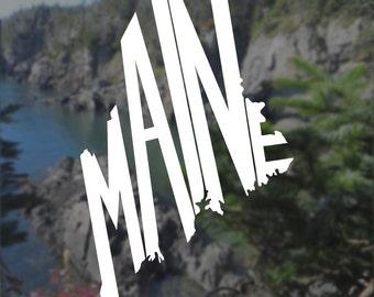 Maine Decal, Maine Sticker, Laptop Decal, Laptop Sticker, Macbook Decal