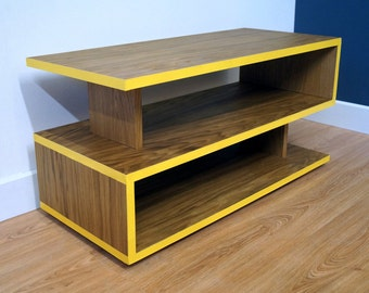 Oak hand made coffee table/TV stand with coloured edge