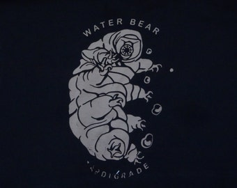 Water Bear Tardigrade Crop Top T-Shirt Size L