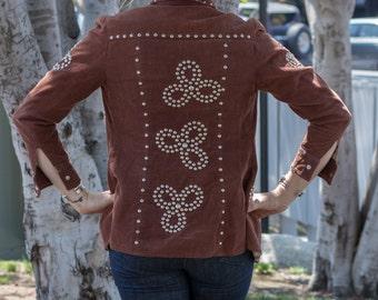 Vintage 1970's corduroy studded jacket