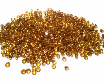 25 pieces 3mm Citrine Faceted Round loose gemstone wholesale lot Natural Citrine round faceted gemstone Yellow Color Citrine Faceted Round