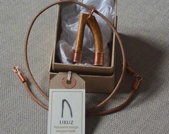 Runic style pendant - Uruz
