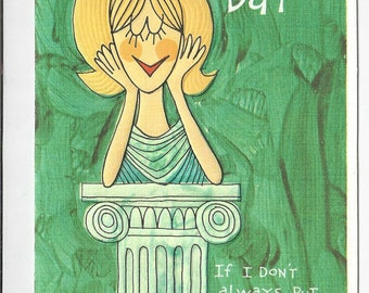 """1970s Cute Vintage Mothers Day Card """"To My Wife on Mothers Day"""""""