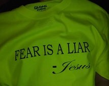 Unique fear is a liar related items | Etsy