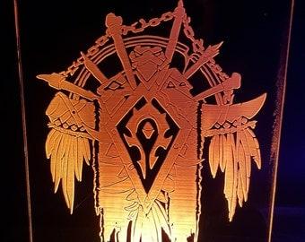World of Warcraft Horde LED Desk Lamp