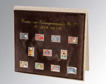 European Championship 1980 UEFA '79  stamps in silver 925 complete collection