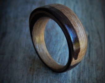Personalized Wood Ring - Gift for Her - Wood Ring - Gift for Wife - Gift for Girlfriend - Rustic Ring - Colorful Ring - Costom Wood Ring