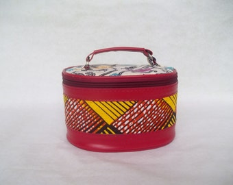 Hand made in pure Wax make-up bag.