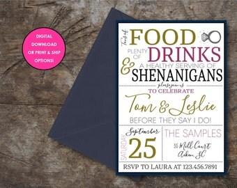 Shenanigans Couples Shower/Engagement Party Invitation