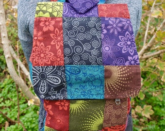 Handmade Patchwork Small Backpack.