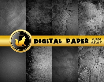 Black Old Wall Background,Black Digital Paper,old wall Scrapbook Paper,Old Wall art,digital paper,Black Background,grunge,distressed wall
