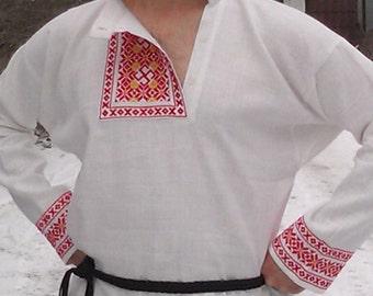 Russian shirt Magic Guardians; folk shirt; kosovorotka