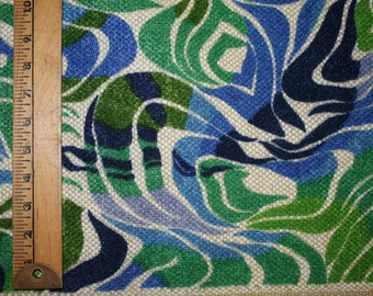Blue + Green Wave Upholstery