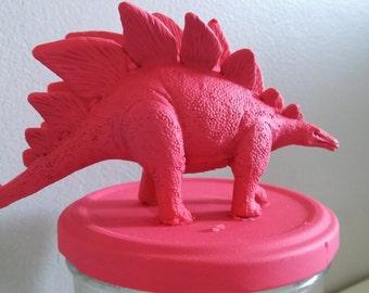 Jar fluo pink Stegosaurus