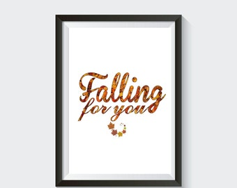 Falling For You Home Decor Printable