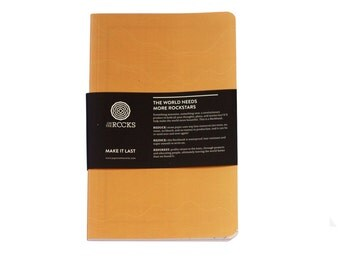Softcover Rockbook Tan - Notebook made from stone