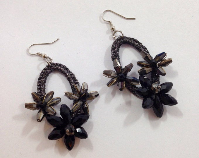 Earrings with crystals (wonderful gift for Christmas/beautiful gift for christmas)