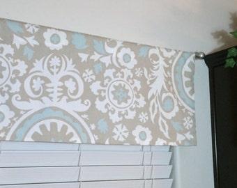 SALE! -  Modern Valance - Custom Valance - Designer Valance - 50 X 16 Window Valance - Kitchen Valance - Window Decor - Curtain Panel