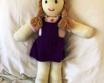 Hand Knitted Vintage Style Dolls : Anna