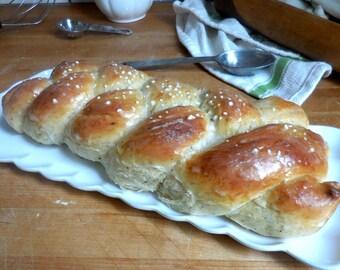 Set of TWO CARDAMOM BRAIDS Finnish Pulla Sweet Bread Christmas Nordic Scandinavian Braided Coffee Kardamumma Bulla Spice Swedish Pastry