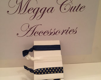 Hair Elastics Navy Pack