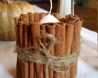 Short Cinnamon stick candle