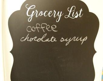 Chalkboard Vinyl Grocery List