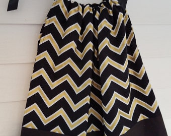 Black And Gold Chevron Pillowcase Dress