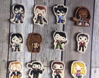 Walking Dead Character Felties Set of 12 DIGITAL FILE ONLY