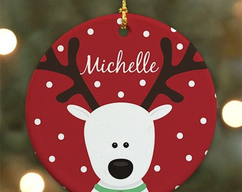 Personalized Reindeer Ornament - Personalized with Name