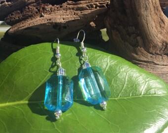 Blue Crystal – Silver Earring