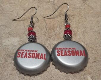 Redhook Seasonal 'Beerings' Bottle Cap Earrings
