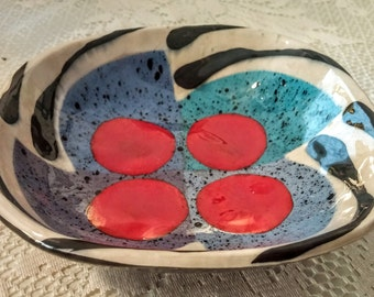 Vintage Handmade Ceramic Bowl Signed