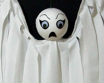 Ghost Halloween Decoration Outdoor Decor Hanging Ghost Spookette Flyer Yard Art