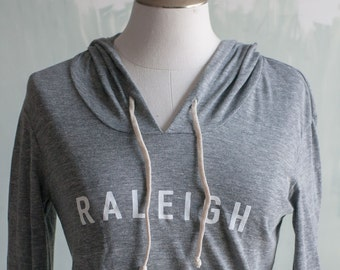 Raleigh Lightweight Hooded Pullover, Gray Hoodie