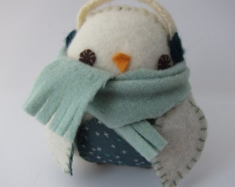 Snow Drop Penguin Softie in Teal