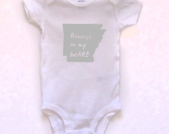arkansas baby clothing, arkansas baby gift, arkansas love, arkansas shower gift, baby neutral, cute baby gift, free shipping