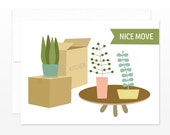 New Home Card, Nice Move Greeting Card, New House, New Condo, Moving Card, Funny New Apartment Card, Cute New Place, Moving Announcement