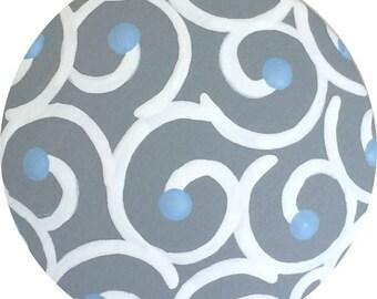 Grey Knobs Swirls Painted Knobs Wood Knobs KIDS Knobs Decorative Dresser Knobs Furniture Drawer Pulls Knobs Nursery Room Knobs Baby Knobs
