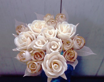 Roses Bouquet of 2-3.5cm Dia. Sola Diffuser Flowers with 10 Inch. Reeds
