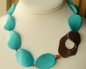 Turquoise Magnesite Chunky Necklace