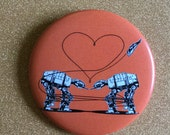 Orange AT-AT Love 2.25 Inch Magnet - Star Wars Magnet, Fridge Magnet, Refrigerator Magnets, Star Wars Gift, Star Wars Party