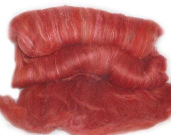 handcarded batts spinning fiber 3.3 oz
